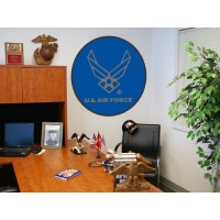 AIR FORCE 44-inch Non-Licensed Round Ball Rug
