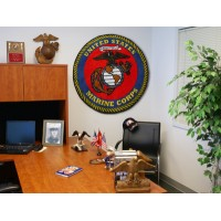 MARINES 44-inch Non-Licensed Round Ball Rug