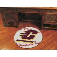 Central Michigan University Baseball Rug