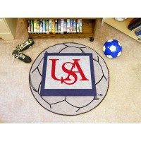 University of South Alabama Soccer Ball Rug