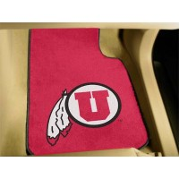 University of Utah 2 Piece Front Car Mats