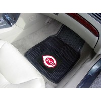 MLB - Cincinnati Reds Heavy Duty 2-Piece Vinyl Car Mats