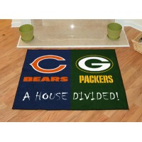 NFL - Chicago Bears - Green Bay Packers All-Star House Divided Rug