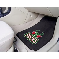 NBA - Milwaukee Bucks 2 Piece Front Car Mats