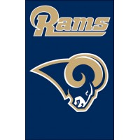 AFRM Rams 44x28 Applique Banner