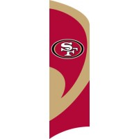 TTSF 49ers Tall Team Flag with pole