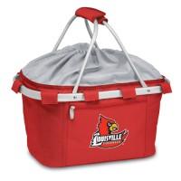 University of Louisville Printed Metro Basket Picnic Basket Red