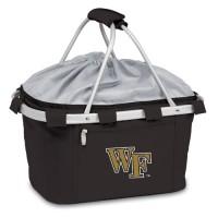 Wake Forest University Printed Metro Basket Picnic Basket Black