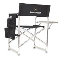 Vanderbilt University Sports Chair - Black Embroidered