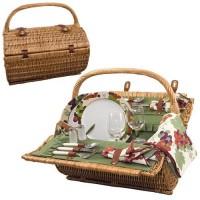 Picnic Time Barrel - Pine Green w/Nouveau Grape Picnic Basket