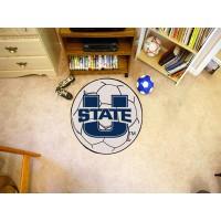 Utah State University Soccer Ball Rug
