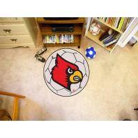 University of Louisville Soccer Ball Rug