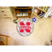 University of Nebraska Soccer Ball Rug