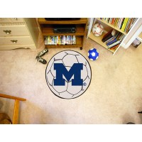 University of Michigan Soccer Ball Rug