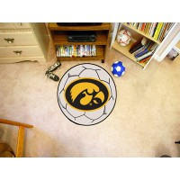 University of Iowa Soccer Ball Rug