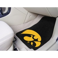 University of Iowa 2 Piece Front Car Mats