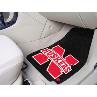 University of Nebraska 2 Piece Front Car Mats
