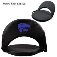 Kansas State Printed Metro Seat Recliner Black