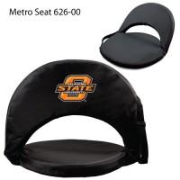 Oklahoma State Printed Metro Seat Recliner Black