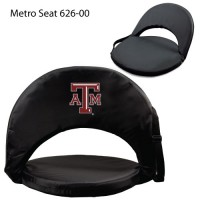 Texas A&M Printed Metro Seat Recliner Black