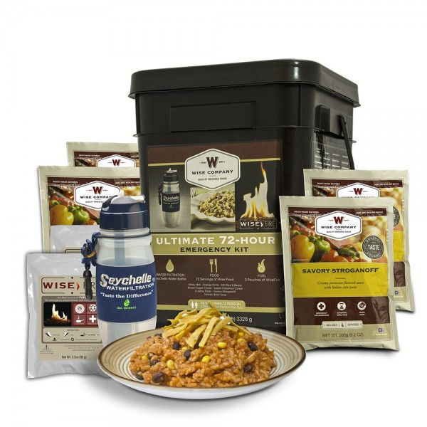 Wise Ultimate 72 Hour Kit (72 Servings, Water Filter, Fire) (NEW)