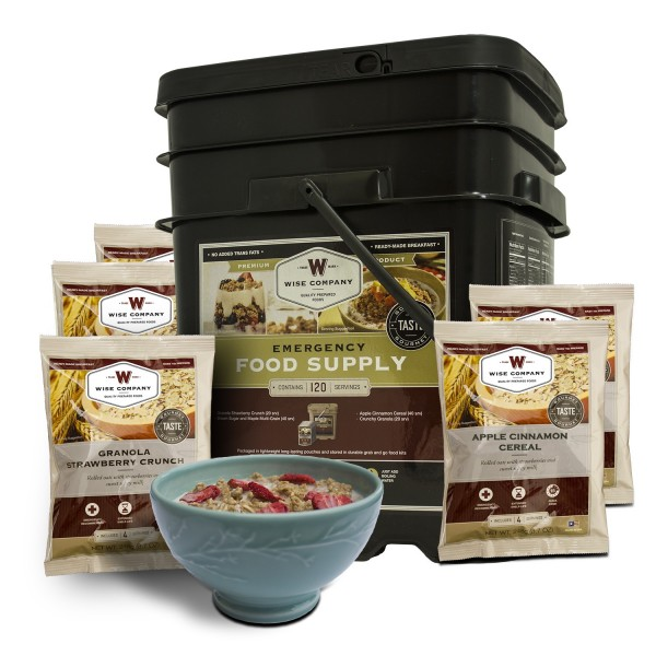 Wise Foods 120 Serving Breakfast Only Grab and Go Bucket (NEW!)