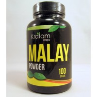 Kratom Kaps - Malay All Natural Organic Powder (100gr) Bottle