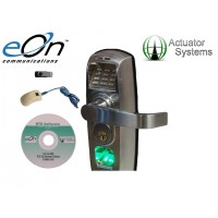 eOn RTE-302SC Biometric / Pin and Ethernet Enabled Handle Lock in Satin Chrome