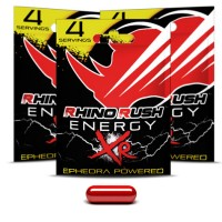 Rhino Rush XR Energy Pills (4) Ephedra Powered