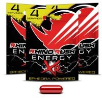 Rhino Rush XR Energy Pills (4) Ephedra Powered