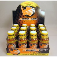 Rhino Rush Energy Drink - Double Shot -  Peach Ring with Ephedra (12)