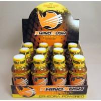 Rhino Rush Energy Drink - Double Shot -  Peach Ring with Ephedra (12)