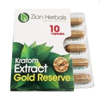 Zion Herbals 10 Caps Gold Reserve Extract Blister Pack
