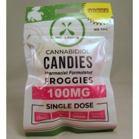 Green Roads CBD Candies - Froggies Sourz 100MG (4x25mg)