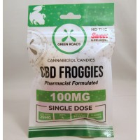 Green Roads CBD Candies - Froggies100MG (4x25mg) Sweet & Relaxing