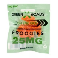 Green Roads Froggies - Assorted Flavors CBD Gummie - 25MG (1)