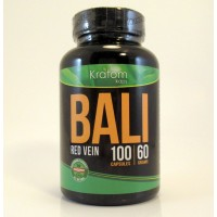 Kratom Kaps - BALI (Red Vein) All Natural Organic Capsules (100ct / 60gm)