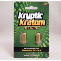 Kryptic Kratom - Botanical Extract  Capsules - Hurry Up and Relax (2pk)(1)