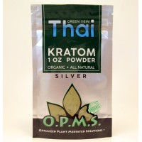 OPMS Silver THAI (green vein) - All Natural Organic POWDER (28.35gr)(1oz)