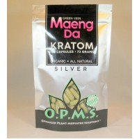 OPMS Silver Green Vein Maeng Da - Organic - All Natural Caps (120ea / 72gm)