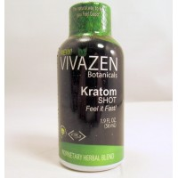 Vivazen Botanicals - Kratom Shot - Proprietary Herbal Blend - Feel it Fast! (1) Samples