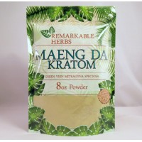 Remarkable Herbs 100% All Natural Maeng Da (Green Vein)  Powder (8oz)