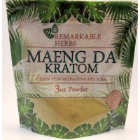 Remarkable Herbs 100% All Natural Maeng Da (Green Vein)  Powder (3oz)