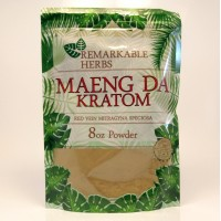 Remarkable Herbs 100% All Natural Maeng Da (Red Vein) Powder (8oz)