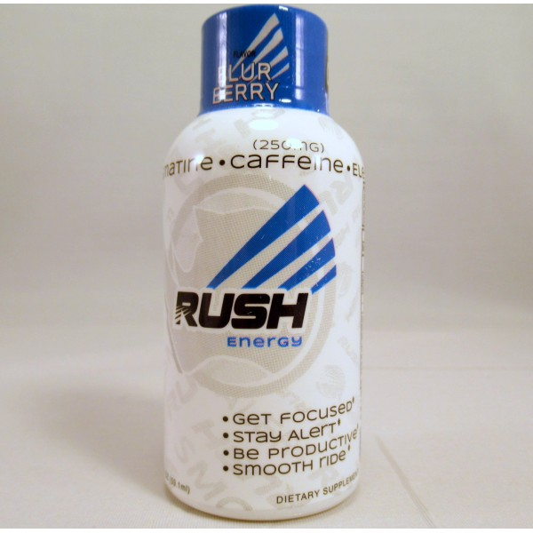 Rhino Rush Energy Drink - Blur Berry Flavor - Stay Alert / Be Productave - (Samples) (1) New!