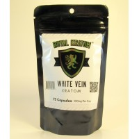 Royal Kratom - White Vein Capsules (75ea)