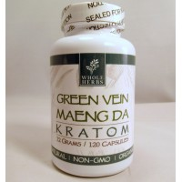 Whole Herbs - Green Vein Maeng Da Capsules - Natural | Non-GMO | Organic (120ea)