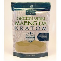 Whole Herbs - Green Vein Maeng Da Powder - Natural | Non-GMO | Organic (225gm)(8oz)