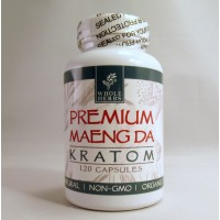 Whole Herbs - Premium Maeng Da Capsules - Natural | Non-GMO | Organic (120ea)