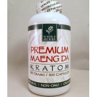 Whole Herbs - Premium Maeng Da Capsules - Natural | Non-GMO | Organic (500ea)